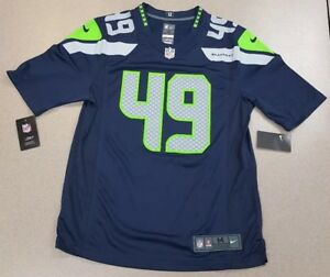 NWT Nike Shaquem Griffin  49 SEATTLE SEAHAWKS Game Jersey Mens Size ... 772f771e4