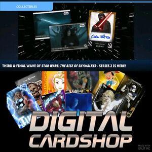 Topps Star Wars Card Trader RISE OF SKYWALKER Series 2 Wave 2 Blue Set Award