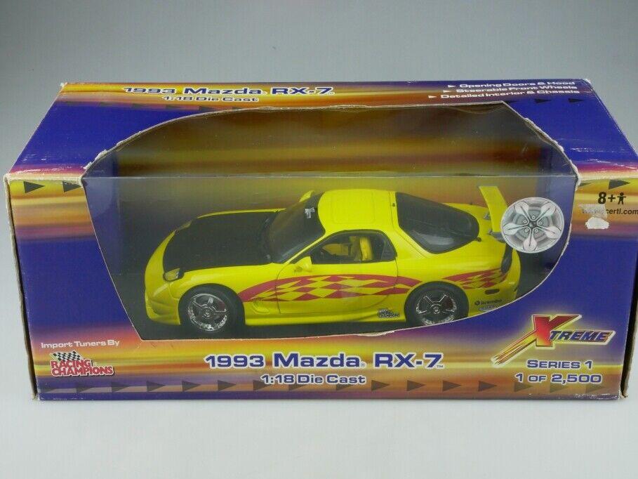 Racing Champions 1 18  MAZDA RX 7 COUPE 1991 X TREME Tuner avec Box 513327  40% de réduction