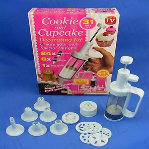 Cake Art Kit : 31Pc COOKIE & CUPCAKE DECORATING SET Icing Pipe Nozzle ...