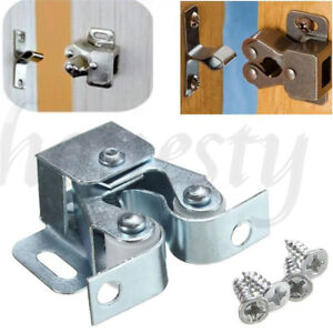 Details About 1/2/5/10pcs Double Roller Catch Cupboard Cabinet Door  Hardware Home Tools