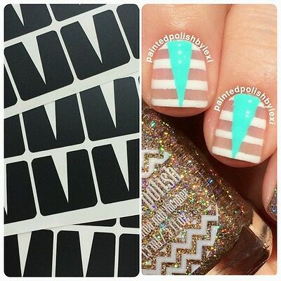 Stiletto Stencils Nail Decal Vinyls Fingernail Art