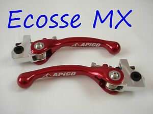 MONTESA-4RT-315R-TRIAL-apico-ROUGE-FLEXIBLE-LEVIER-EMBRAYAGE-DE-FREIN-SET