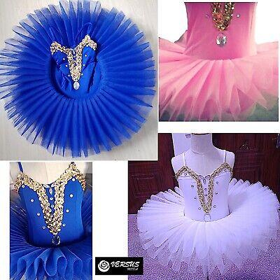 Obbiettivo Vestito Tutù Saggio Danza Bambina Ragazza Child Girl Ballet Tutu Dress Danc162 Piacevole Al Palato