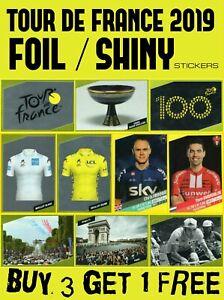 Panini-Tour-De-France-2019-Brillante-Lamina-de-Pegatinas-Completa-Tu-Album-ciclismo