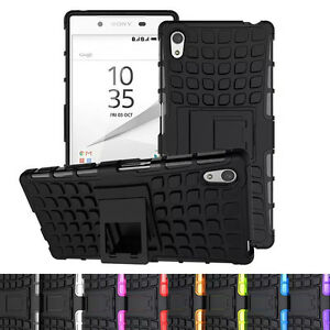 Cool-Rubber-Rugged-Armor-Hybrid-Shockproof-Stand-Phone-TPU-Case-For-Sony-Xperia