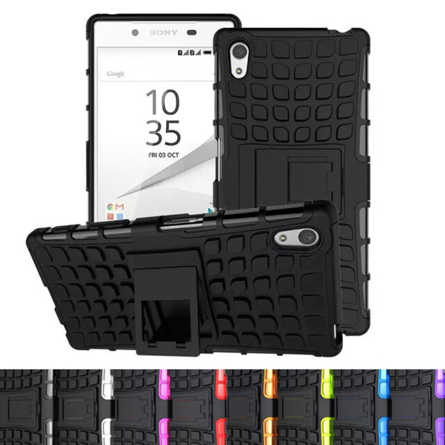Cool Rubber Rugged Armor Hybrid Shockproof Stand Phone TPU Case For Sony Xperia