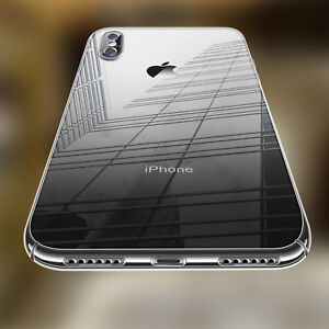 Ultra Thin Clear Hard Case Shockproof Hard Armor Cover For iPhone 8 X XR XS Max