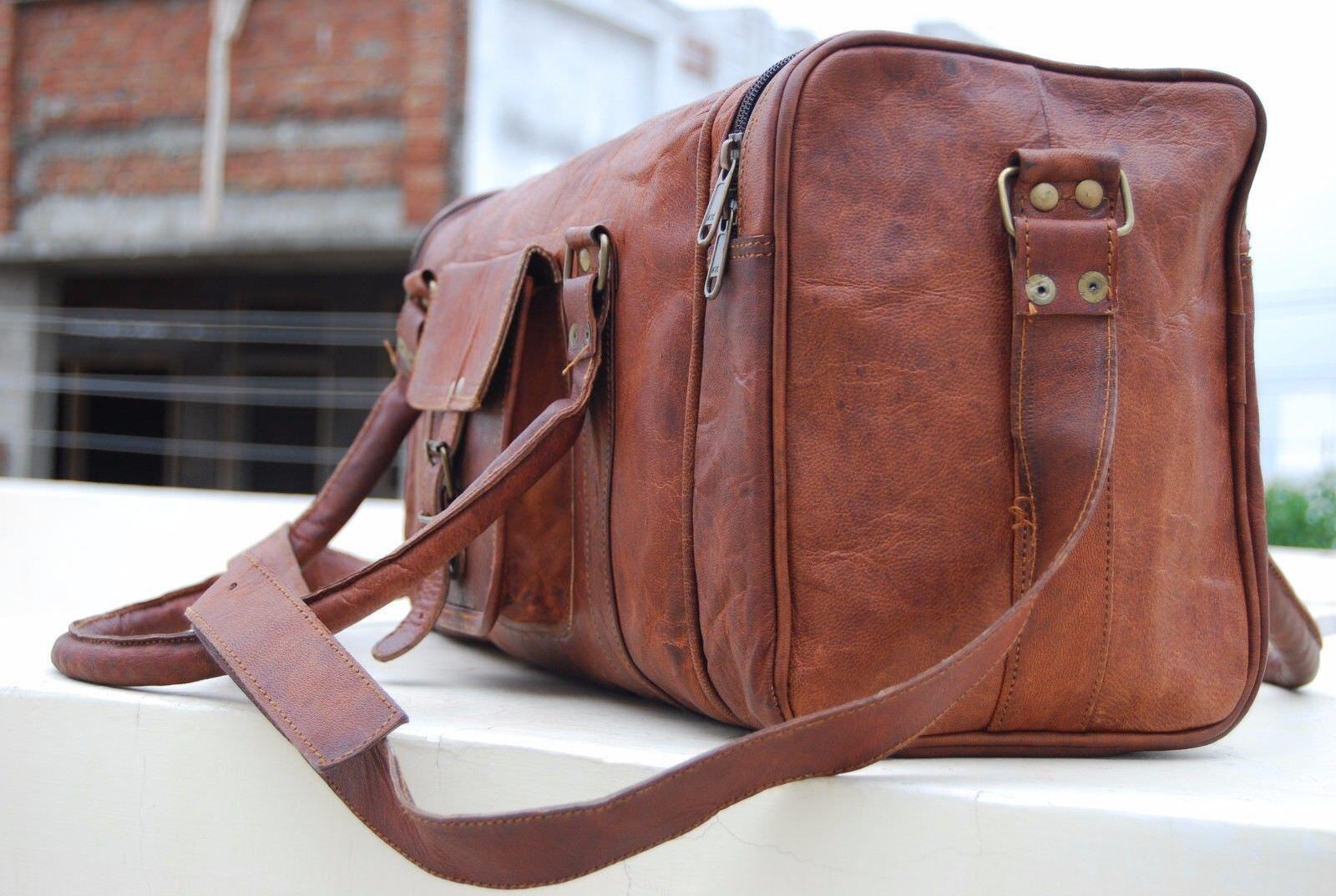 Herren Jahrgang Leder Reisetasche Duffle Sporttasche Wochenendreise tasche Neu1 | | | Ruf zuerst  cc298a