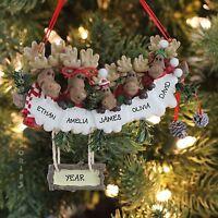 Moose Family Of 5 Christmas Personalized Christmas Tree Ornament Kurt Adler