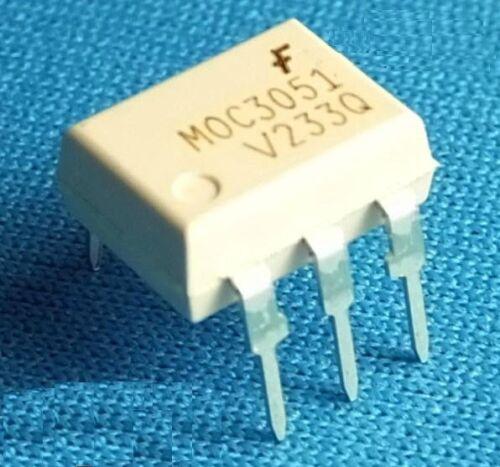 50PCS IC MOC3051 FSC OPTOCOUPLER TRIAC-OUT 6-DIP NEW