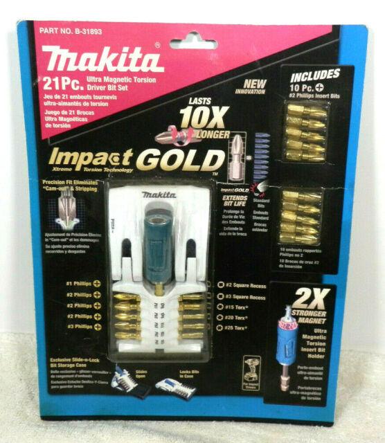 Makita B-69163 26 Pièce Impact Gold Torsion Drill Bit Nutsetter Tournevis Set