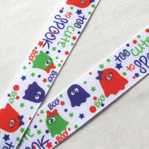 "5YARDS 7//8/"" Grosgrain Ribbon Halloween Decor Craft Mix R0515"