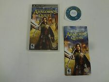 THE LORD OF THE RINGS ARAGORN'S QUEST PLAYSTATION PSP FREE SHIPPING