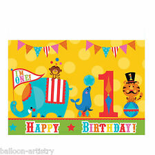 137cm x 243cm Fisher Price Circus 1st Birthday Party Plastic Table Cover BA