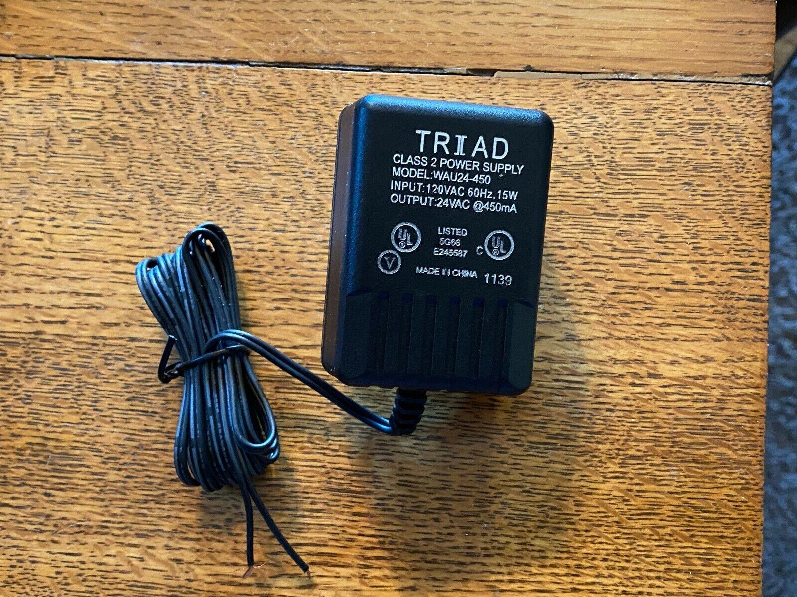 (1)Pack - Power Supply 120 V AC input down to 24V AC @450mA output; UL Listed
