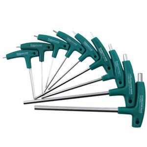 T Handle Allen Hex Key Wrench Screwdriver Tool Set 1 5mm