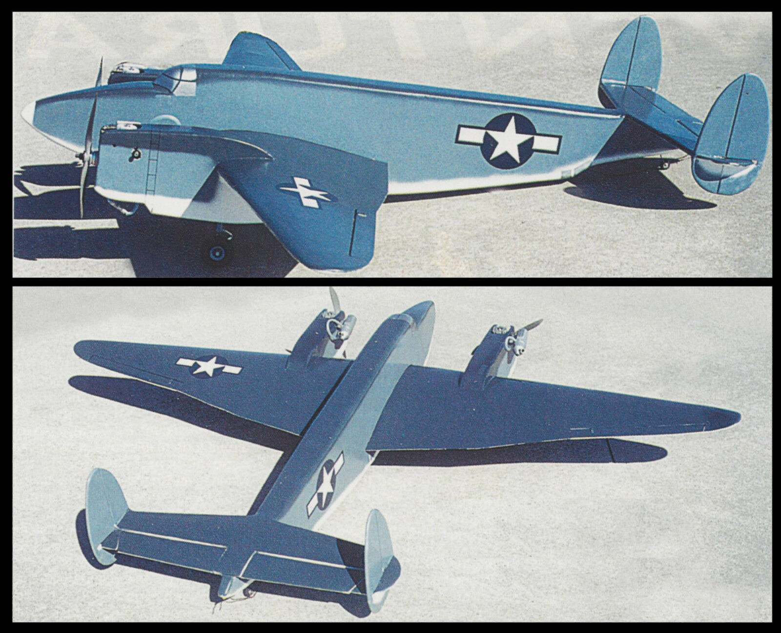 """RC Plans,Templates and Instructions 43/"""" 1//12 Scale Lockheed Sirius"""