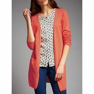 JOSEPH-Women-s-Orange-Linen-Knit-Cardigan-Sweater-Jumper-Size-M-Medium