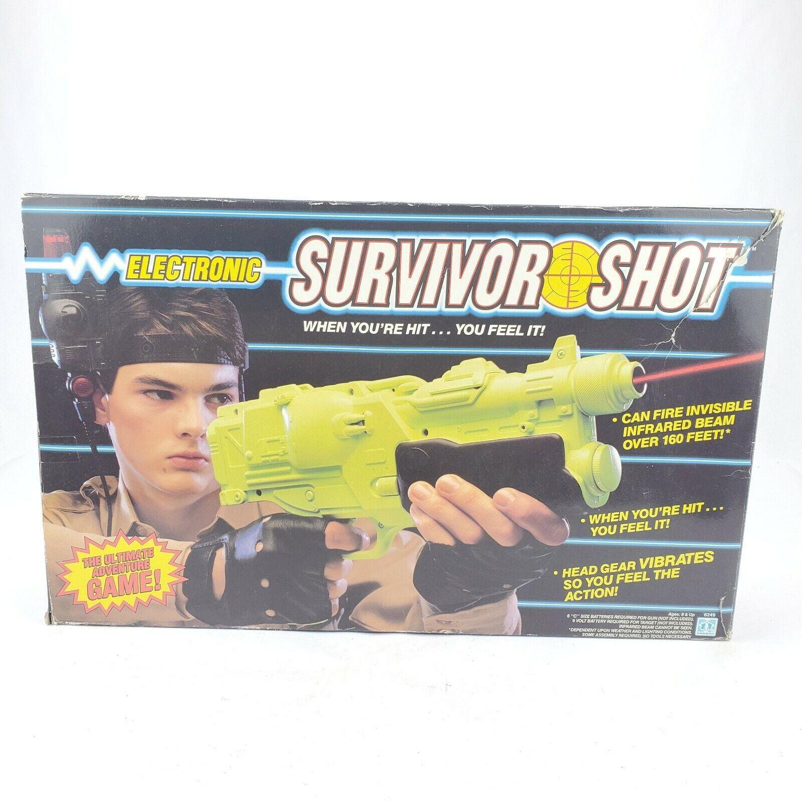 Rare VTG NEW IN BOX Original Hasbro Electronic Survivor Sheiß Laser Tag Gun buchstabieren