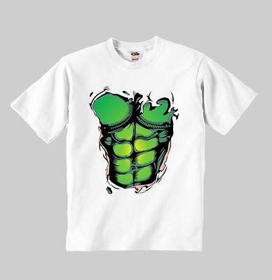 hulk t-shirt model:3 hulk clothing toddler kid toddler children size:1-8 y