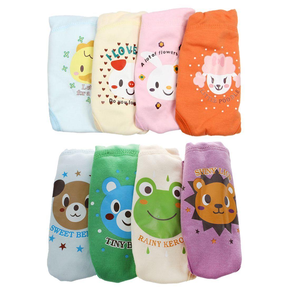 4x Baby Toddler Girls Boy Cute 4 Layers Waterproof Potty Training Pants Random. 5