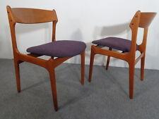 60er Jahre Teak Stühle (2) Erik Buck O.D. Mobler Denmark Teak Dining Chairs