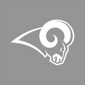 Los Angeles Rams Nfl Team Logo 1 Color Vinyl Decal Sticker