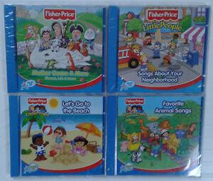 LOT-DE-3-CD-FISHER-PRICE-BEBE-CHILDREN-NEUFS-LITTLE-PEOPLE-1-en-CADEAU