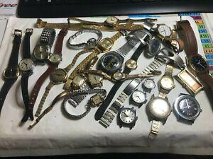 Lot-de-montres-pour-pieces-certaines-fonctionnes-vendue-en-l-039-etat
