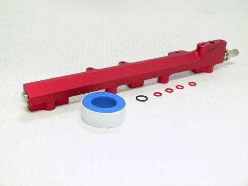 OBX Red Aluminum Fuel Rail Fit 99-00 Civic Si 94-97 Del Sol VTEC 1.6L DOHC B16A2