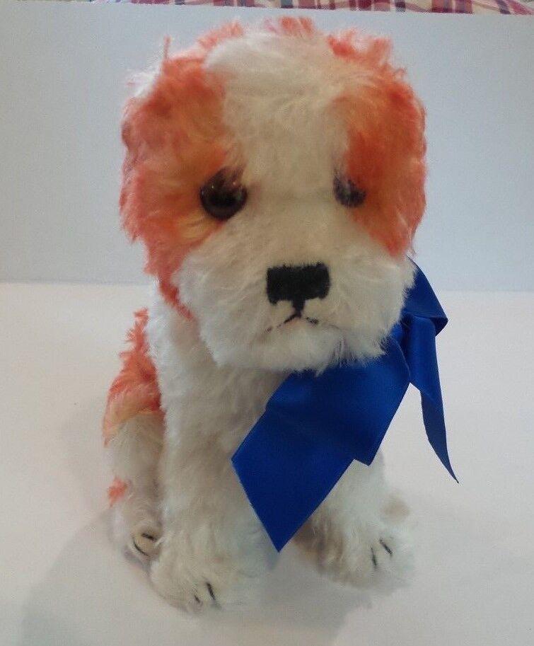 STEIFF 8.5  MOHAIR  MOLLY  HUND (HOUND) DOG 1927 REPLICA, BUTTON, ID & TAG