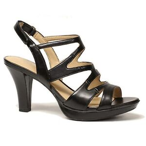 6bb79f2d0fba Image is loading Women-Naturalizer-DIANNA-E5554S1001-Black -Smooth-Sticking-Strap-