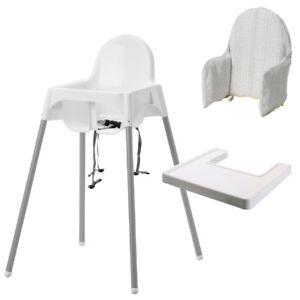 ikea antilop kinderhochstuhl mit tablett und sitzgurt kl mmig st tzkissen neu ebay. Black Bedroom Furniture Sets. Home Design Ideas