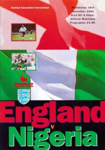 1994 ENGLAND v NIGERIA FRIENDLY AT WEMBLEY