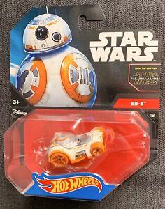 Hot-Wheels-de-Mattel-Star-Wars-1-64-escala-Diecast-BB-8-Droid-Personaje-De-Coche-Nuevo