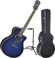 Yamaha Apx500iii Oriental Blue Acoustic-electric Guitar Bundle W/case & Sta