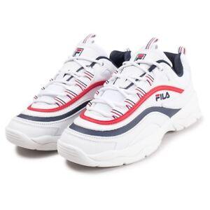 Similicuir Blanches Ray Homme Chaussures Baskets White De Fila Urbaines En TXAwFq1