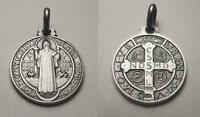 St. Benedict Medal Sterling Silver (925) - 16mm - Italy