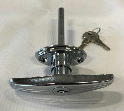 """Locking /""""T/"""" Style Door Handle with 3-1//2 Inch Long Shaft"""