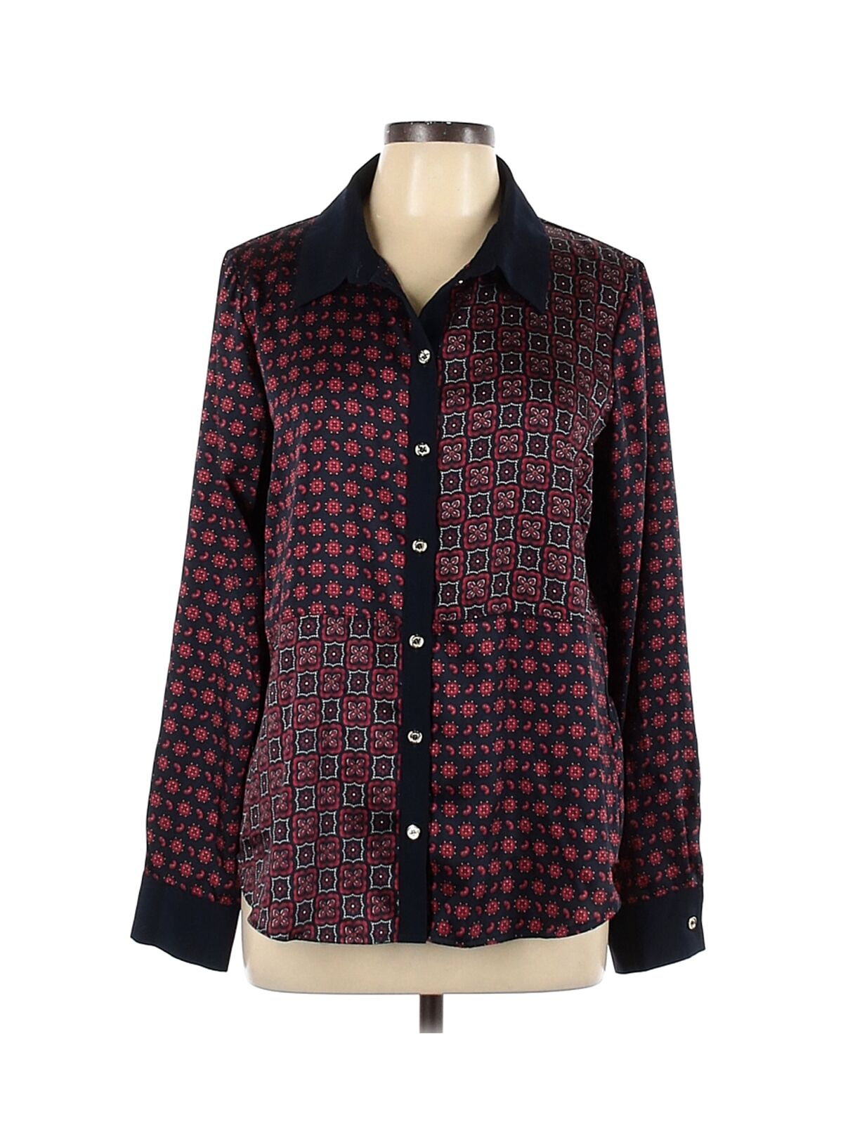 Tommy Hilfiger Women Brown Long Sleeve Blouse L - image 1