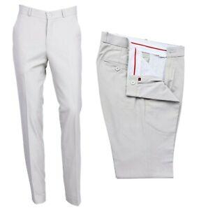 Clasico-Para-hombres-Pantalones-Prensa-Sta-Beis-Piel-Mod-60s-70s-Slim-Fit-Pantalones