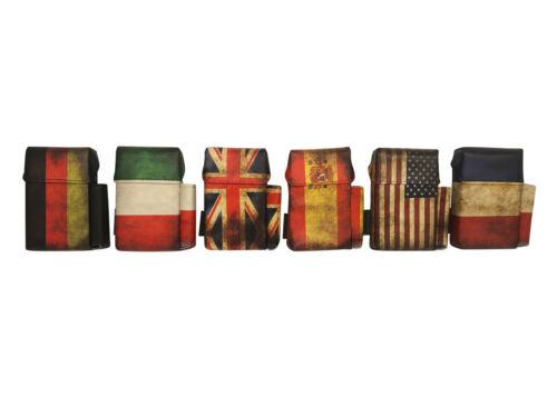 CiggyJumper Flag Style mit Feuerzeughalter Zigarettenetui Zigarettenbox 20 Zig