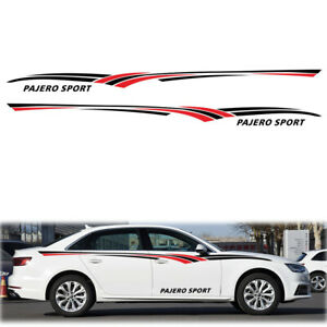 For Mitsubishi Pajero Car Body Decals Sport Racing Stickers Vinyl Graphic Strips