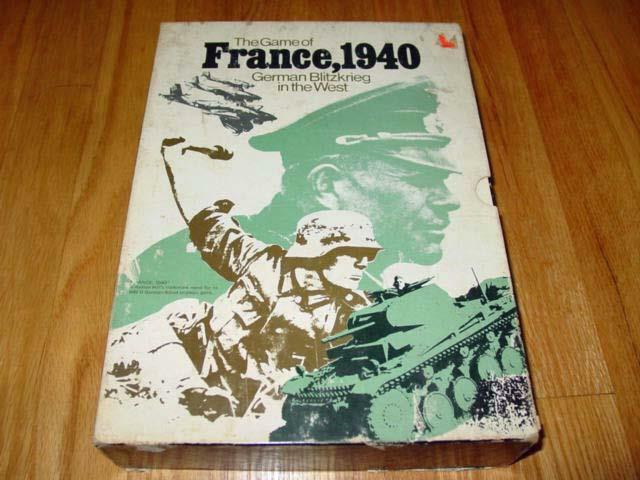 Avalon Hill 1972 - France, 1940 - German Blitzkrieg in the West classic (PUN)