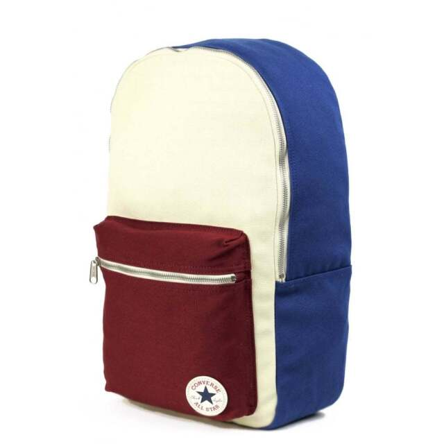 d7f60a922f4d CONVERSE Core Plus Canvas Plus Backpack Blue Wine Cream School Bag  10002537-109