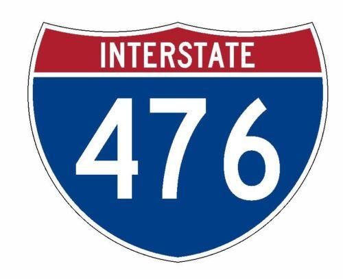 Interstate 476 Sticker R2078 Highway Sign Road Sign