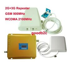 900/2100 MHz Dual Band GSM+WCDMA 3G Cell Phone Signal Booster Repeater Amplifier
