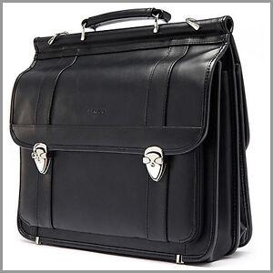 SERUBU-Man-039-s-Leather-Briefcase-Genuine-Leather-BAG-Document-NWT-0425