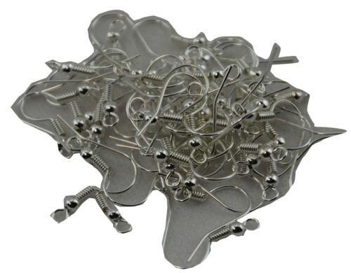 1000 x boucle d/'oreille hameçons jewellery making findings nickel et sans plomb